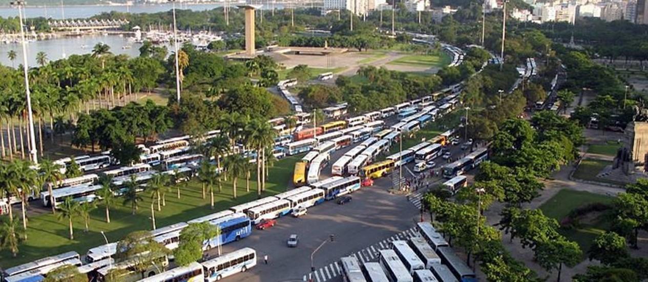 Culto religioso provoca caos no trânsito do Rio. Foto do leitor Leonardo Marques da Cruz