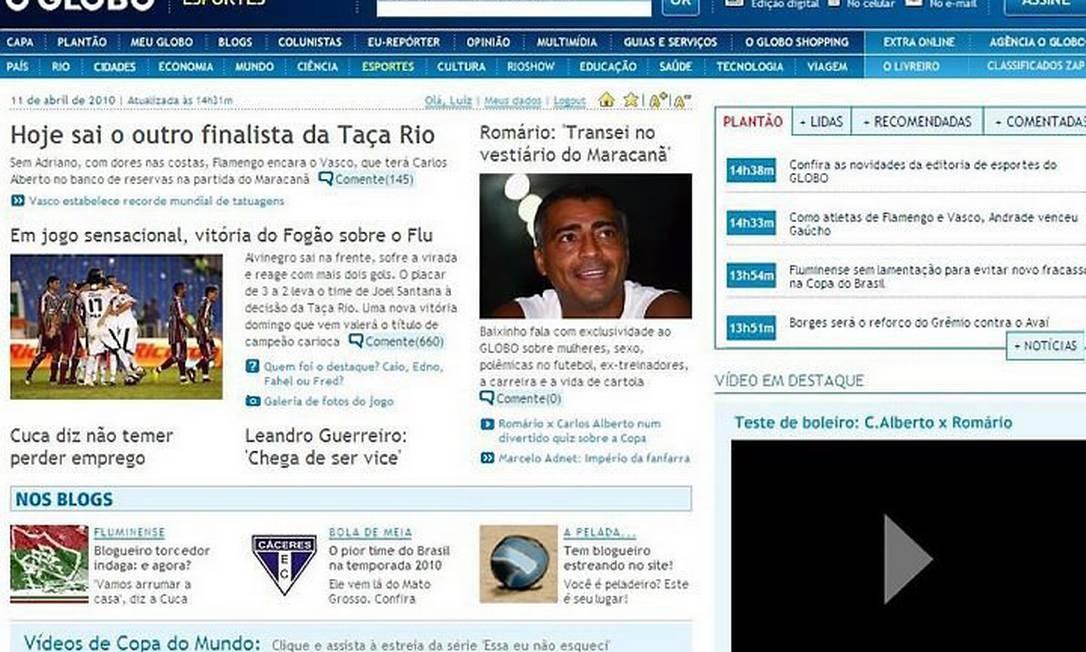 e5caacdcb7 Confira as novidades da editoria de esportes do GLOBO - Jornal O Globo