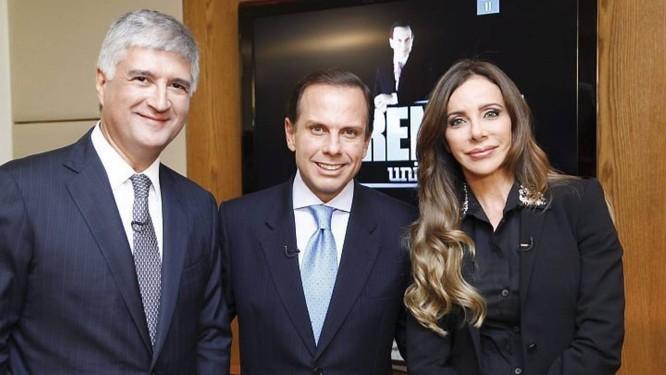 David Barioni, João Doria Jr e Cristiana Arcangeli em 'O Aprendiz' Foto: Edu Moraes