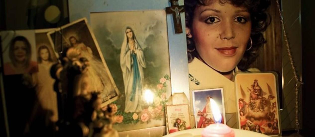 Fotos da juíza Maria Lourdes na casa em que vivia antes de ser presa pela presidente da Venezuela Hugo Chávez. Crédito: Meridith KohutThe New York Times