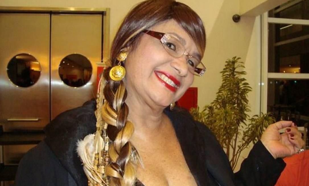 A ex-chacrete Lucinha Apache no lançamento do documentário 'Alô alô Terezinha', em São Paulo Divulgação