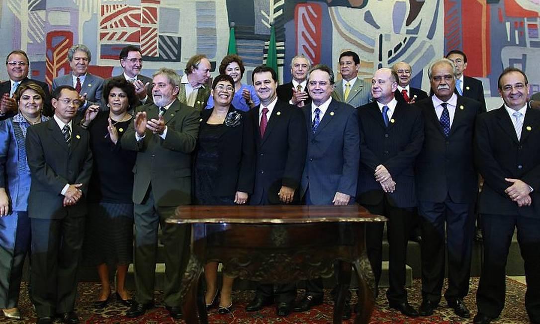 O presidente Lula deu posse nesta quarta-feira a dez novos ministros - Foto: Presidência da República