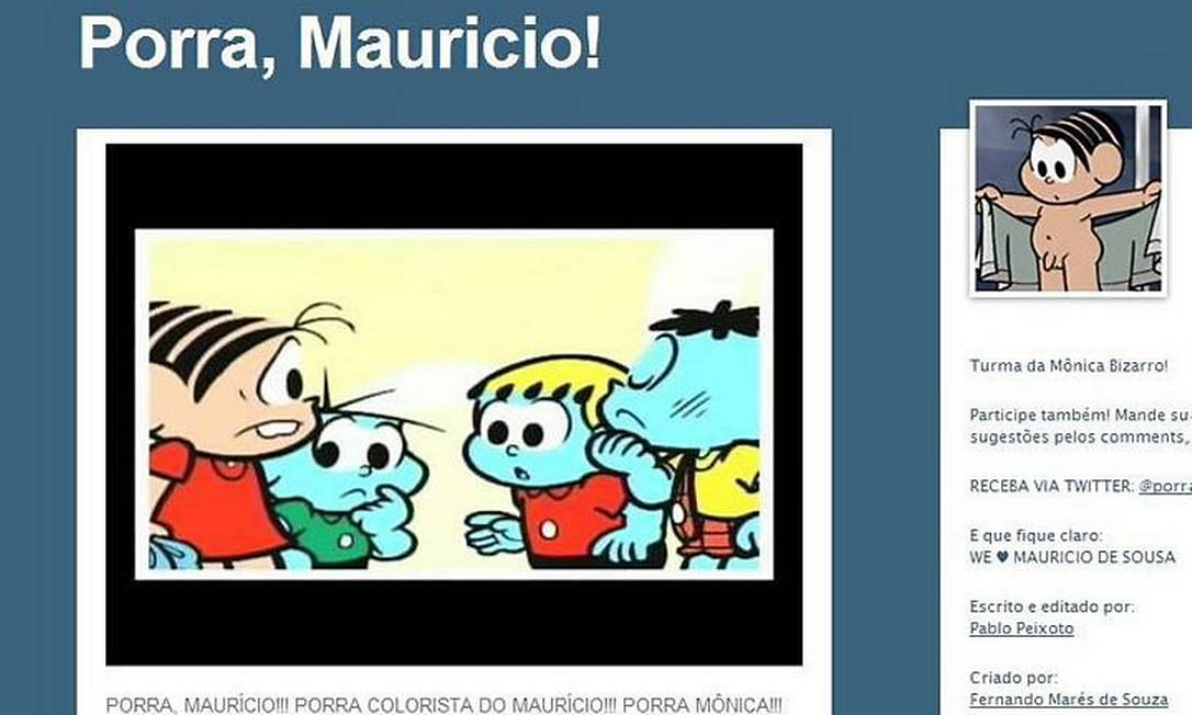 No blog a pergunta: por que só Mônica não tem seu 'avatar'?