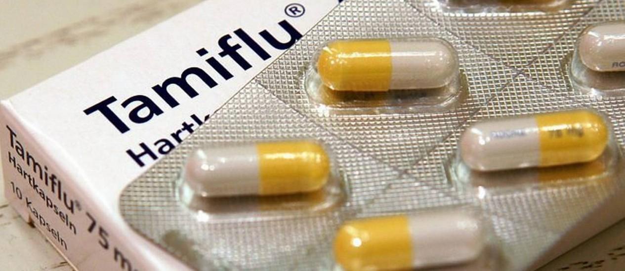 O medicamento Tamiflu, usado contra a gripe suína - Foto: AP