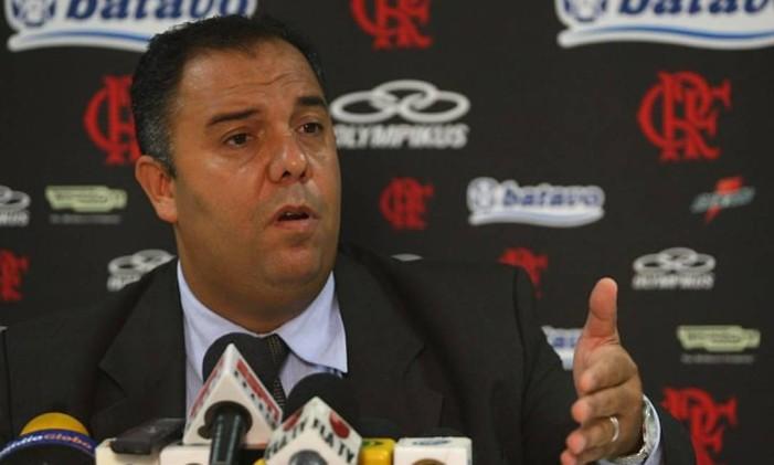 O ex-vice de futebol do Flamengo, Marcos Braz Foto: Agência O Globo