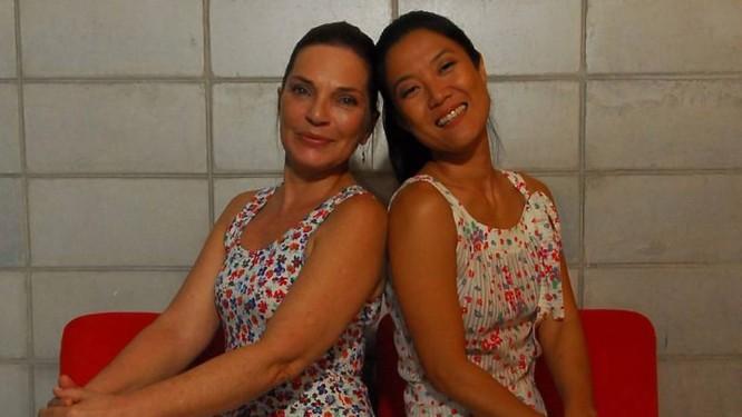 Sandra Barsotti (esquerda) e Miwa Yanagizawa. Foto: TV GloboRenato Rocha Miranda