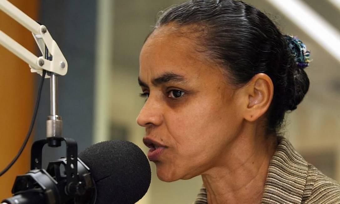 A senadora Marina Silva durante entrevista à Rádio CBN - Foto: Ana Branco