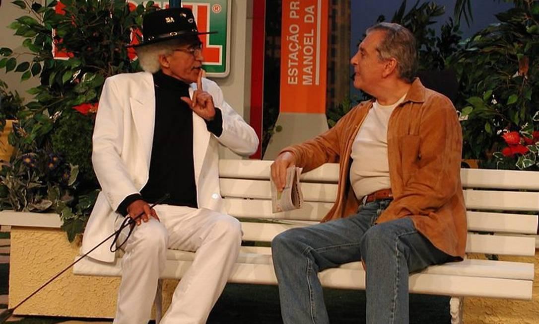 Arnaud Rodrigues e Carlos Alberto Nóbrega na Praça É Nossa - Divulgação