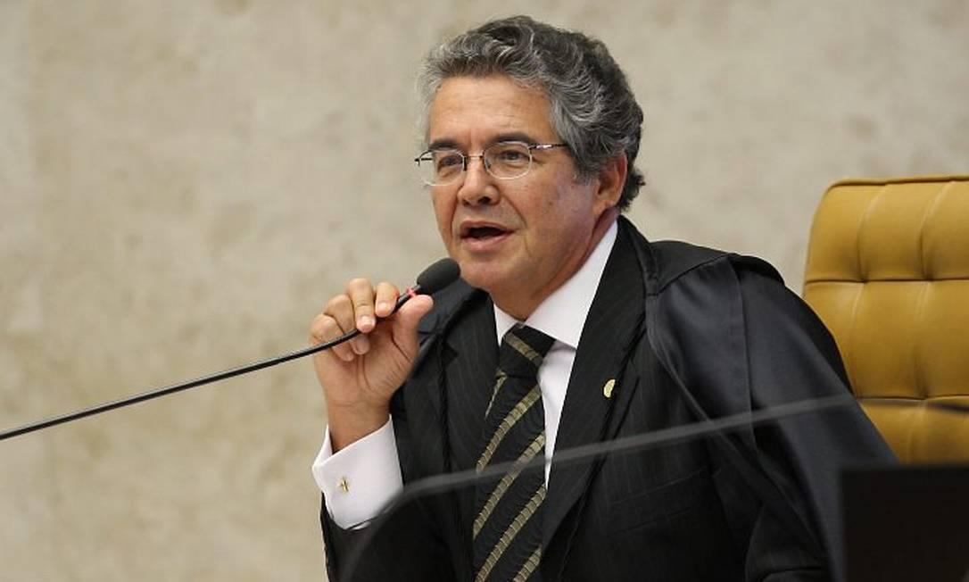 O ministro Marco Aurélio Mello durante julgamento no STF - Ailton de Freitas Arquivo