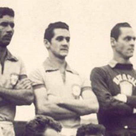 Orlando ao lado de Nílton Santos e Gilmar - Divulgação CBF