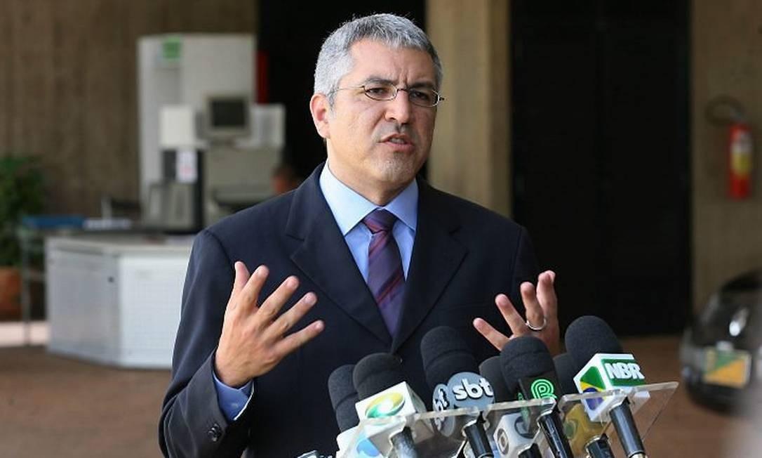 O ministro das Relações Institucionais, Alexandre Padilha, em entrevista coletiva - Gustavo Miranda