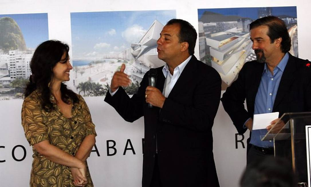Cabral lança pedra fundamental do MIS em Copacabana. Foto: Custódio Coimbra