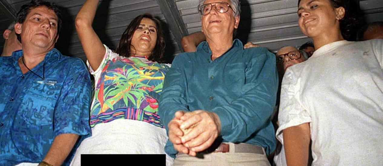 A foto de Itamar e Lílian que entrou para a galeria histórica da Sapucaí