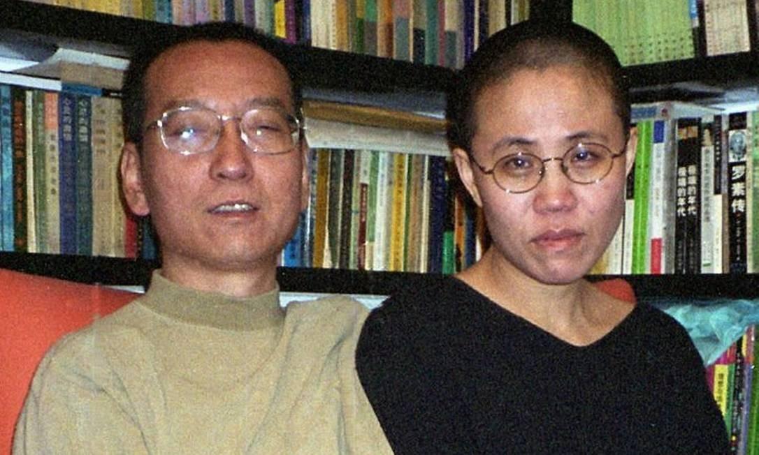 Liu Xia, esposa do Nobel da Paz, Lui Xiaobo, em foto para repórter em 2002Foto: AFP