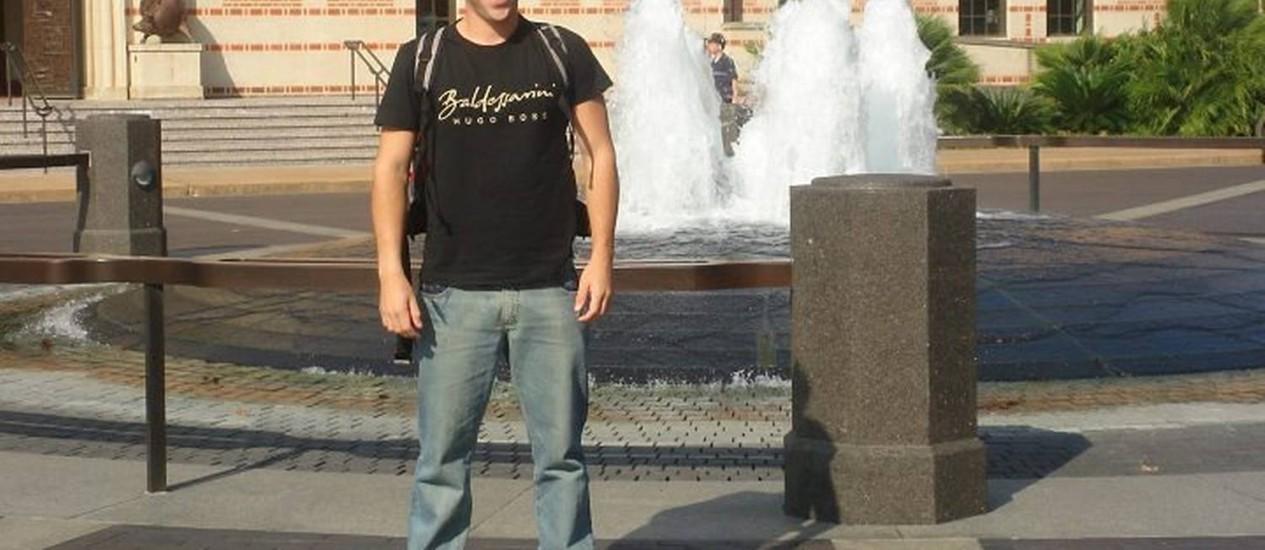 Bruno Rosa, estudante de economia na Rice University nos Estados Unidos Arquivo Pessoal