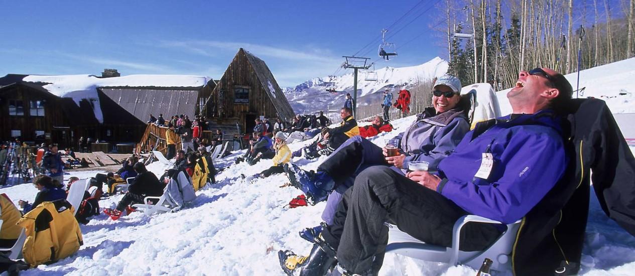 Na estação deTelluride, no Colorado, as pistas de esqui abrirão no dia 24 de novembro. Foto: Divulgação