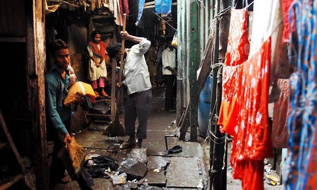 Favela na Índia onde vive a atriz Runita Ali, do filme 'Quem quer ser um milionário?' EFE