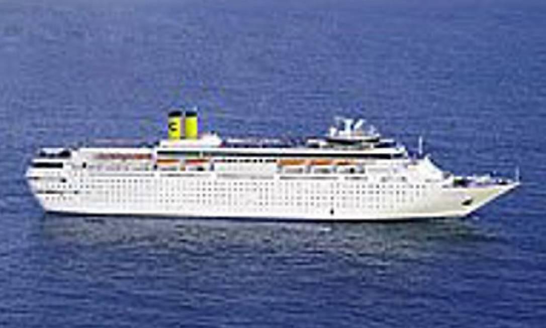 O navio Costa Romantica - ReproduçãoCosta Cruzeiros