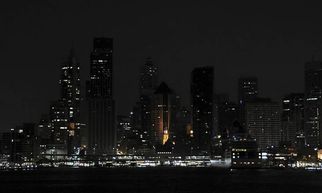 A cidade de Sydney foi a primeira a apagar as luzes em adesão ao programa Hora do Planeta