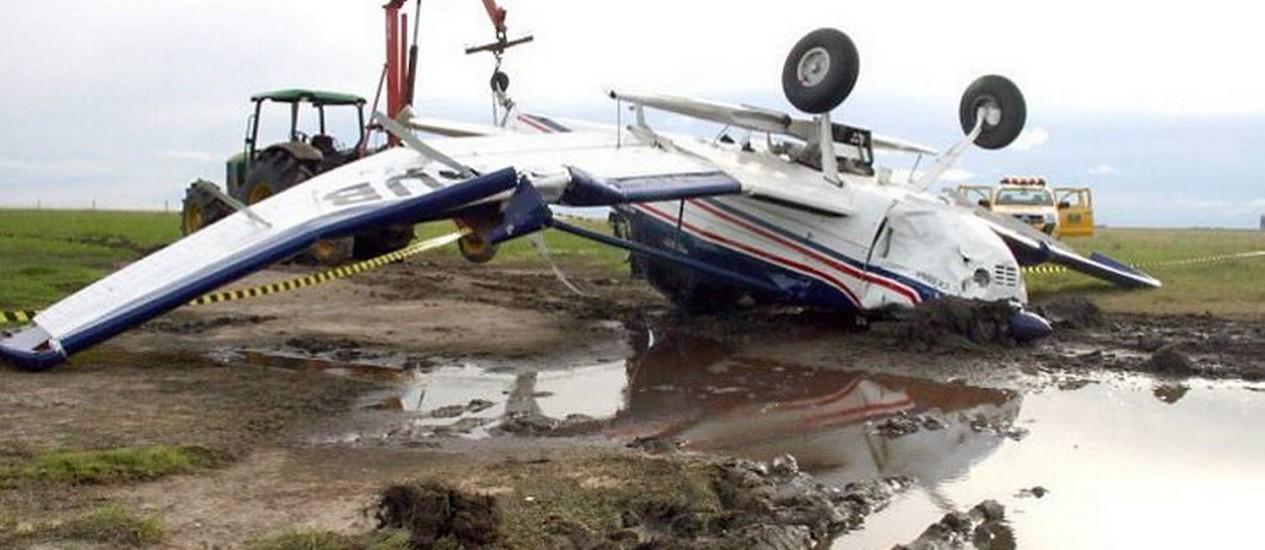 Em Aceguá, piloto morreu afogado - ReproduçãoClicRBS