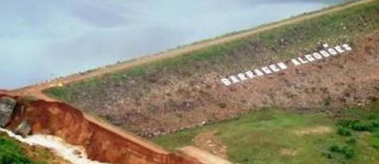 Foto da Barragem de Algodões antes do rompimentoEmgerpiGoverno do Piauí