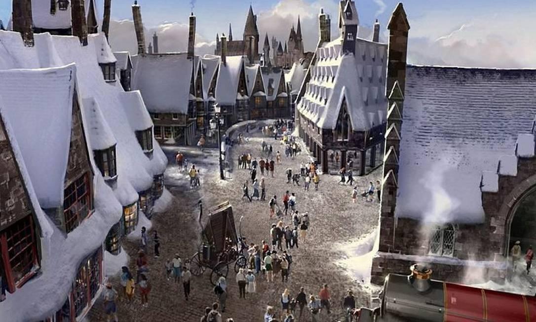 Wizarding World of Harry Potter na Universal: nova área temática será inagurada em 2010 no complexo Universal Foto: Divulgação