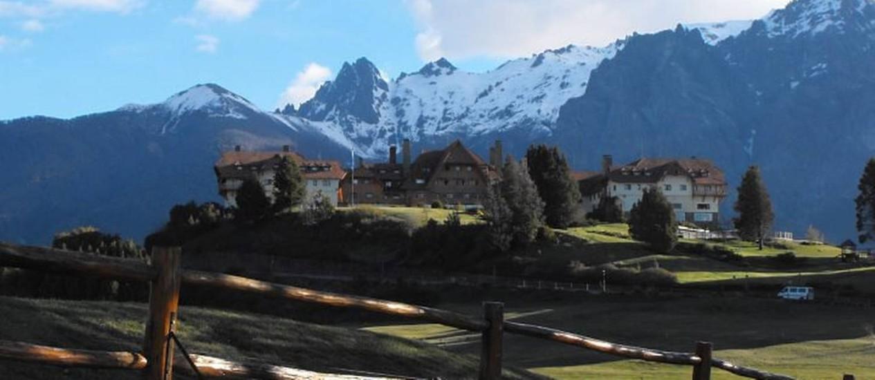 Vista do Hotel Llao Llao, que também é uma atração turística na região Foto: Luisa Valle
