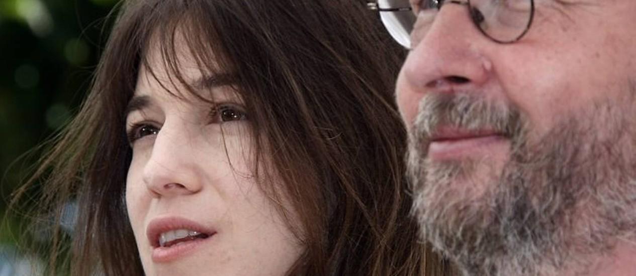 Charlotte Gainsbourg e Lars Van Trier em Cannes Reuters