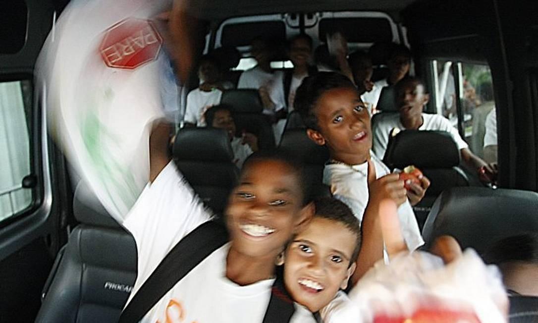 Crianças do Tabajaras se encontraram com MadonnaFoto: André Coelho