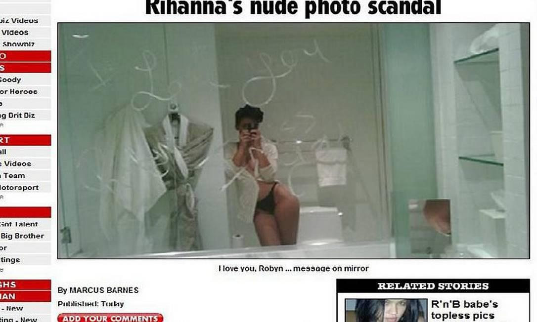 Suposta foto de Rihanna nua - Reprodução The Sun