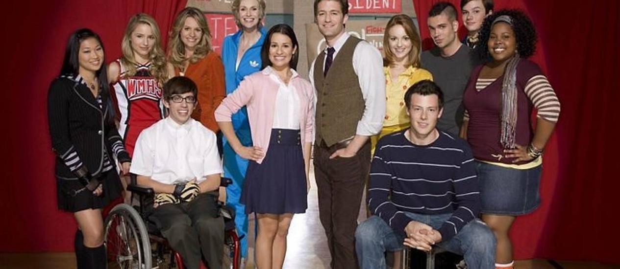 O elenco da série 'Glee'Foto: divulgação