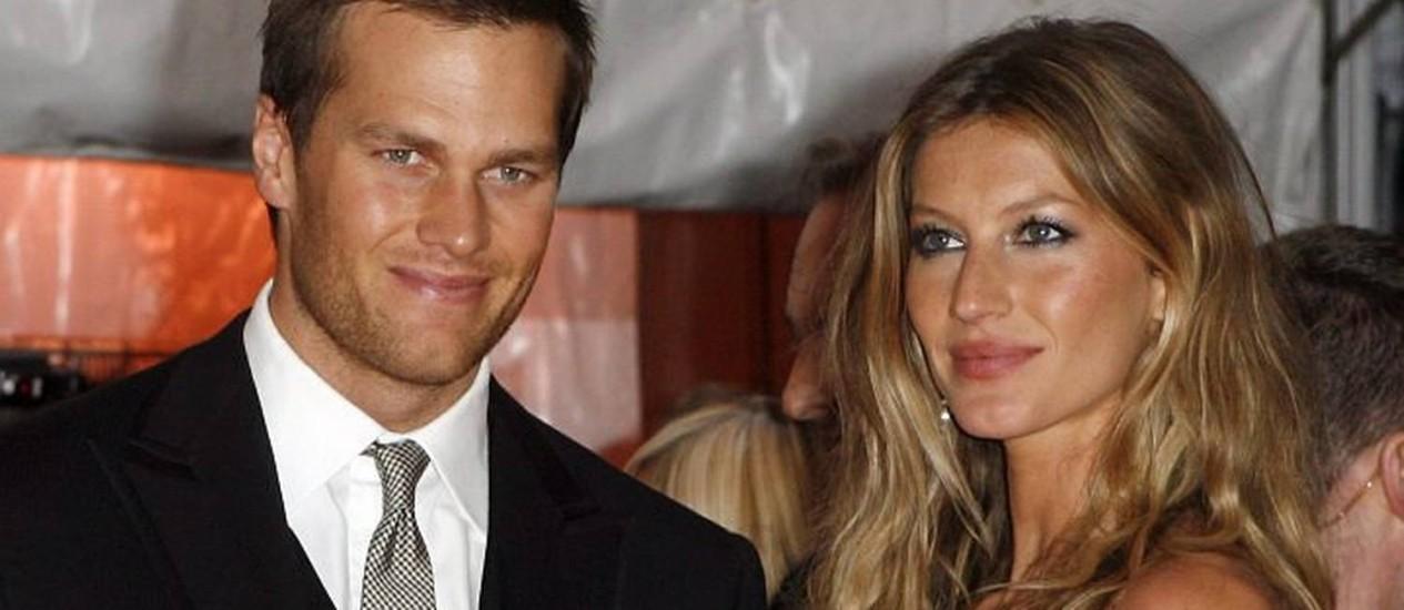 Tom Brady e Gisele Bündchen Foto: Reuters