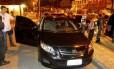 O Toyota Corolla que transportava o traficante Nem: o bandido estava na mala do carro