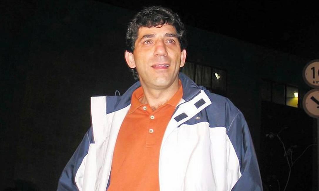 O empresário Luiz Nagib, envolvido no escândalo dos resultados arranjados no Brasileirão em 2005. Foto de Oslaim Brito - Diário de S.Paulo - 29092005