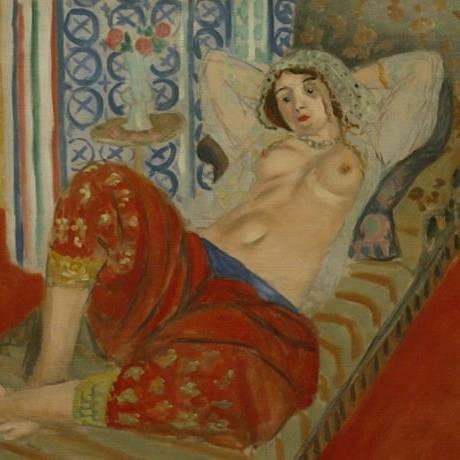 'Odalisque à la culotte rouge', de Matisse. Foto: Eliaria Andrade, Diário de S. Paulo