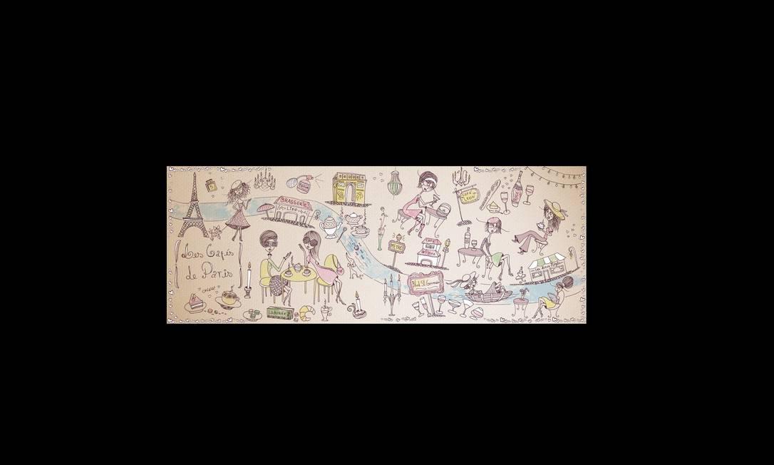 A portuguesa Joana Faria fez uma lista de cafés do Boulevard Saint-Germain em Paris para o site They Draw & Travel. Feito por contribuições, o site foi criado pelos irmãos ilustradores americanos Nate Padavick and Salli Swindell. Joana Faria / Reprodução
