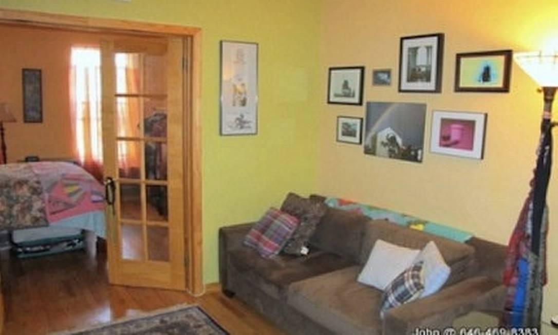 Foto do apartamento em Nova York onde morou Lady Gaga, anunciado num site Foto: Reprodução da internet