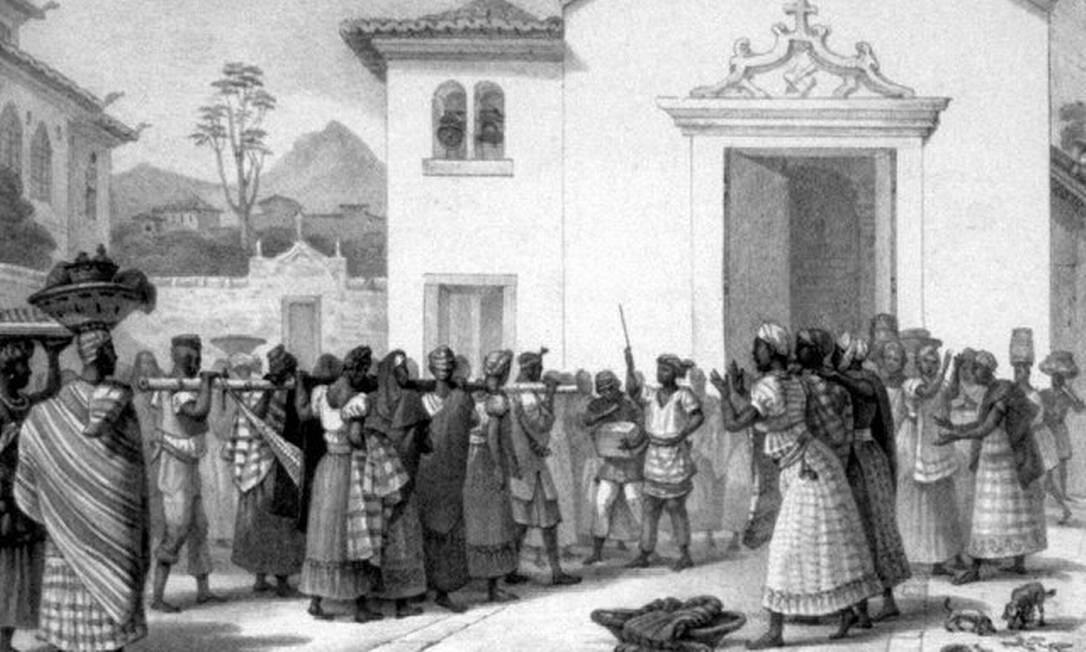 """A obra """"Enterro de uma negra"""" mostra a importância do funeral na cultura dos escravos Foto: Reprodução"""