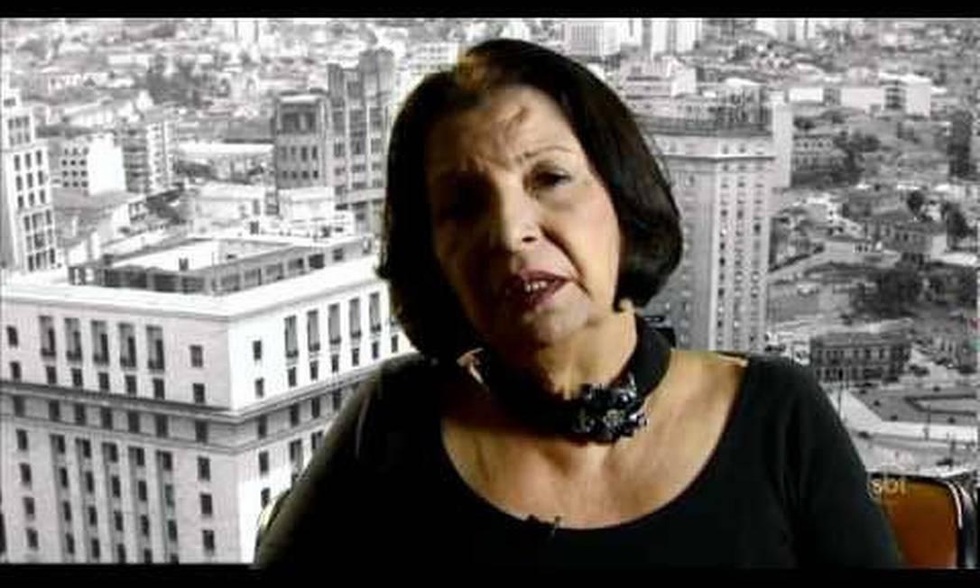 Rose Nogueira durante um depoimento para a novela 'Amor e Revolução', do SBT Foto: SBT / Reprodução