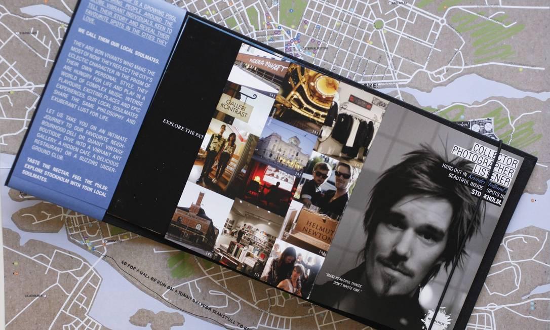 O guia Nectar & Pulse tem folhetos criados por cada local selecionado, com dicas pessoais de lugares e passeios por Estocolmo Foto: Domingos Peixoto / O Globo
