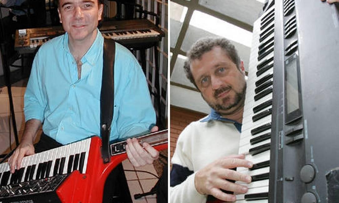 Luciano Alves é um 'keytarrista' orgulhoso; já Luiz Schiavon, do RPM, nem tanto Foto: Arquivo pessoal / Odival Reis