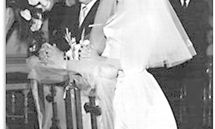 O casamento de Iris, em 1961 Arquivo pessoal