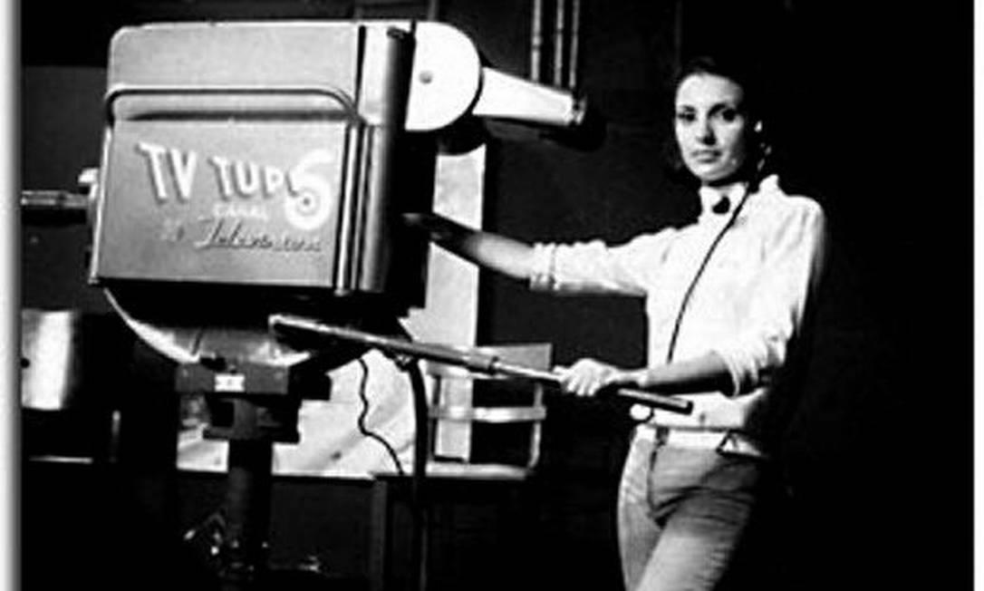 Iris na TV Tupi, em 1966 Arquivo pessoal