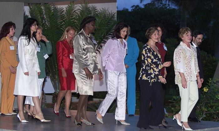 Dona Marisa Letícia recebe ministra e esposas de ministros no Palácio do Planalto Roberto Stuckert Filho / Divulgação
