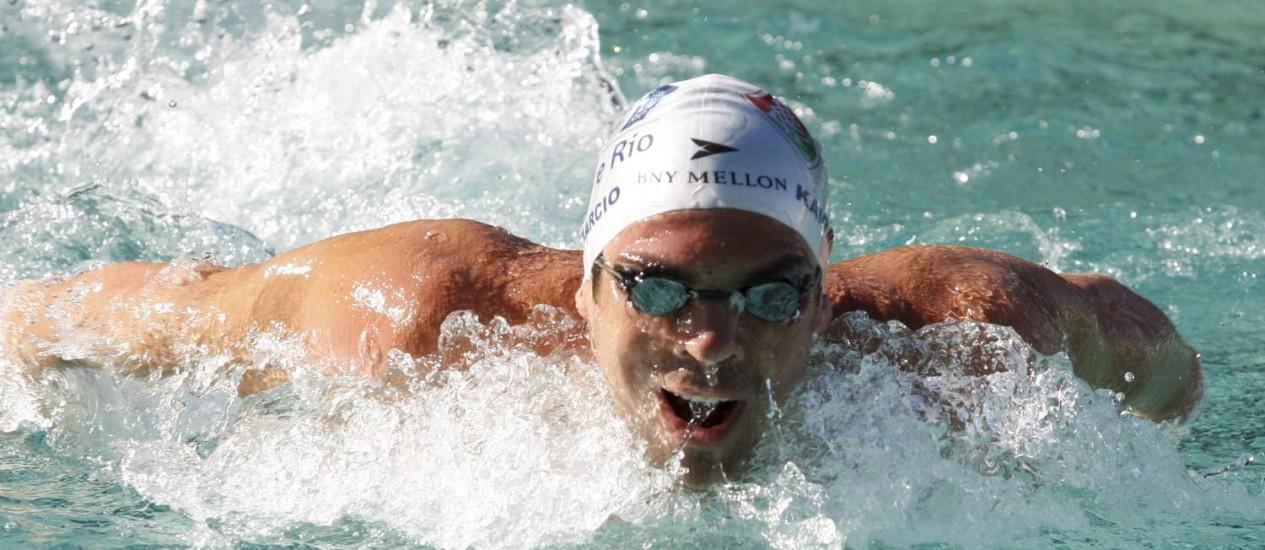 Kaio Márcio, nadador do Fluminense, esperança brasileira de medalha nos Jogos de Londres, em 2012 Foto: O Globo / Marcos Tristão