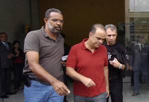 Marcos Valério é preso em Belo Horizonte em operação contra a grilagem de terras Foto: Renato Weil / D.A Press/ 2/12/2011