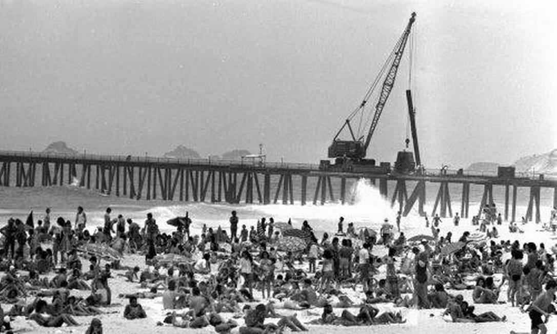 O Píer de Ipanema, desmontado em 1975, será reconstituído com efeitos especiais para um filme de ficção sobre a época, produzido por Guilherme Keller Divulgação / Site Píer de Ipanema