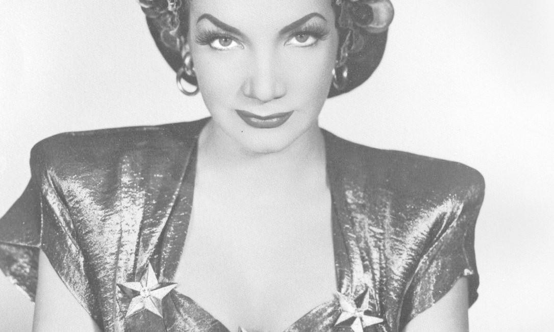 Carmen Miranda: 56 anos após sua morte, sua imagem recebe em média 20 pedidos de uso por semana Foto: Divulgação