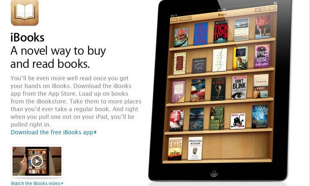 Reprodução do site da Apple iBooks Foto: Divulgação