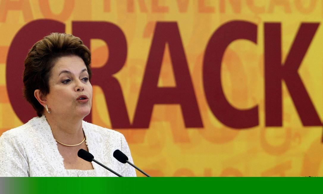A presidente Dilma Rousseff durante o lançamento do programa de combate ao crack Foto: Gustavo Miranda / O Globo